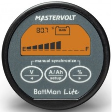 Mastervolt Battman LITE Battery Monitor - 12-24VDC -  50mm Display - Incl. 500A Shunt (110670)