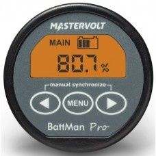 Mastervolt Battman PRO Battery Monitor - 12-24VDC -  50mm Display - Incl. 500A Shunt - Retains History and Displays Time Remaining (110672)