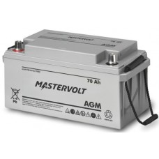Mastervolt - 12 Volt - 70Ah - Marine Dual Purpose Starting/Deep Cycle AGM Battery - 62000700 (111072)