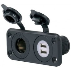 BEP Marinco 12VCOMBO - 12 Volt Receptacle with 20A Output PLUS DUAL USB with 5V 2.1A Output Total (SUR 12VCOMBO)