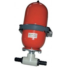 "Johnson Accumulator Tank 2L - Pressurized 2 Litre Tank - For Fewer Pump Starts and Stops - Incl. 1/2"" and 3/4"" Fittings (133340)"