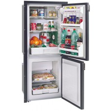 Isotherm CR195 Cruise Grey Line Upright Fridge/Freezer - 130L Fridge with 65L Freezer - Dual BD35F Danfoss Compressors - Grey Door (1195BB7CA)