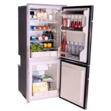 Isotherm CR195 Inox Stainless Steel Upright 2 Door Fridge/Freezer -130L Fridge Plus 65L Freezer - 12 to 24 Volt - RH Door Hinge  1195BB1MK (381717)