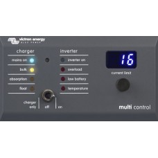 Victron Digital Multi Control 200/200A GX - Remote Control Panel to suit  MultiPlus and Quattro Inverter Charger Combi (DMC000200010R)