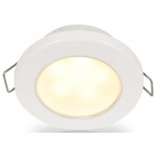 Hella EuroLED 75 Series Downlights - 24V Warm White Light with White Rim (2JA958109611)