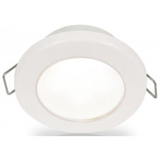 Hella EuroLED 75 Series Downlights - 12Volt White Light with White Rim - Spring Clip Mount - Interior or Exterior - Completely Sealed - Dimmable - 5 Year Warranty (2JA958110511)