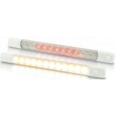 Hella Marine Warm White/Red LED 3W Surface Mount Strip Lamp - 12V - WITH Switch - Waterproof (2JA958121101)