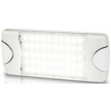 Hella DuraLED COMBI-S 50 LP Light -  SPREAD White Light with White Housing - Cool White LED Light - 9-33VDC - Low Profile Surface Mount (2JA980629001)