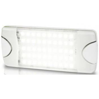 Hella DuraLED COMBI-S 50 LP Light -  WIDE SPREAD White Light with White Housing - Cool White LED Light - 9-33VDC - Low Profile Surface Mount (2JA980629501)