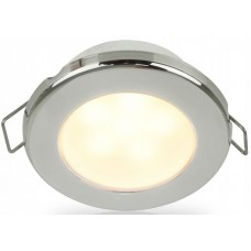 Hella EuroLED 75 Series Downlights - 24V Warm White Light with Stainless Steel Rim (2JA958109621)