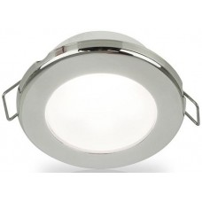 Hella EuroLED 75 Series Downlights - 24V White Light with Stainless Steel Rim (2JA958110621)