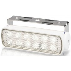 Hella Marine LED Sea Hawk Deck Flood Light - White Light - White Housing - 12VDC - 180 Lumens (2LT980670371)