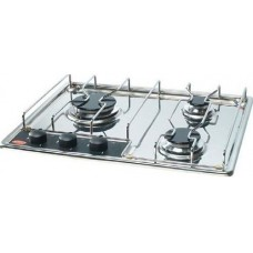 ENO 4333 3 Burner Marine Built-In Cooktop - Highly Polished Marine Grade S/S Stove with Electronic Ignition - 1 Large (8500BTU) 1 Medium (5600BTU) 1 Small (3400BTU) Burner (433341)