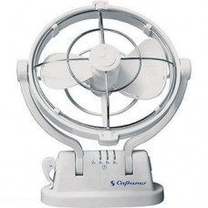 Caframo Sirocco 807 Fan - 12 Volts - WHITE - 3 Speed - 360º Rotation - 4 Pre-Set Timers - Quiet Operation (TRA 807CA White)