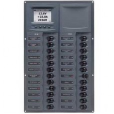 BEP Marinco Contour 24 Circuit Breaker DC Panel - Vertical with Digital Meter (113194 - 905V-DCSM)