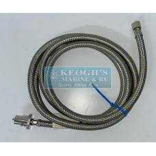 Galleymate LPG Gas 1.5m Braided Stainless Hose with Bayonet Fitting - For When Your Boat / Caravan / Motorhome or RV has Integrated Gas Systems (RegBayonet Hose 1.5m)