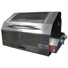 Galleymate Marine 2000 Gas Barbecue - High Lid with Window - STAINLESS STEEL HALF 50/50 GRILL HOTPLATE (GM2000HG)