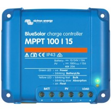BlueSolar MPPT 100/15 Solar Charge Controller - Solar Panel Regulator – Suits 12 or 24V Systems (SCC010015200R)