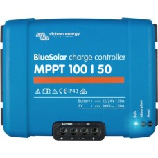 BlueSolar MPPT 100/50 Solar Charge Controller - Solar Panel Regulator – Suits 12 or 24V Systems (SCC020050200)