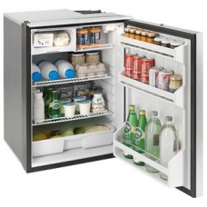 Isotherm Cruise Elegance CR130EL - 130L Marine and RV Fridge/Freezer - 12 or 24 Volt -  Right or Left Hand Opening Silver Door - Central Handle (EL130SDC)