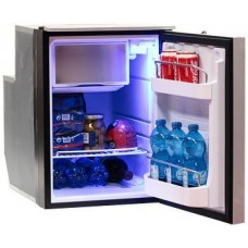 Isotherm Cruise Elegance CR49EL - 49L Marine and RV Fridge/Freezer - 12 or 24 Volt - Right or Left Hand Opening Silver Door - Central Handle (EL49SDC)