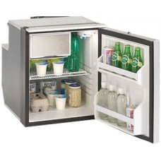 Isotherm Cruise Elegance CR65EL - 65L Marine and RV Fridge/Freezer - 12 or 24 Volt - Right or Left Hand Opening Silver Door - Central Handle - 381669 (EL65SDC)