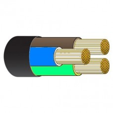 Tricab Marine 3 Core 2.5mm Tinned BLACK Flexible Rubber Cable (Brown, Blue, Earth) - Suits 240V Shipboard Power - Sold per mtr or 100m Spool (TRI 3C2.5BK)