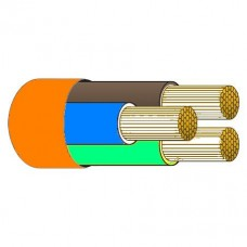 Tricab Marine 3 Core 2.5mm Tinned ORANGE Flexible Rubber Cable (Brown, Blue, Earth) - Suits 240V AC Shorepower Leads - Sold per mtr or 100m Spool (TRI 3C2.5OR)