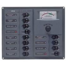 DC Circuit Breaker Panels Analog Meters