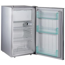 Evakool Platinum DC110 - 110 Litre Boat and Caravan Fridge/Freezer - 12volt t-24Volt DC - Changeable Left or Right Hand Satin Platinum Grey Door (DC110)