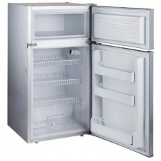 Evakool Platinum DC146 - 146L Two Door Boat and Caravan Fridge/Freezer - 12-24V DC - Changeable Left or Right Hand Satin Platinum Grey Door (DC146)