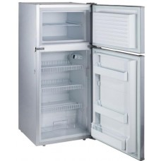 Evakool Platinum DC175 - 175 Litre Two Door Boat and Caravan Fridge/Freezer - 12volt to 24 Volt DC - Changeable Left or Right Hand Satin Platinum Grey Door (DC175)