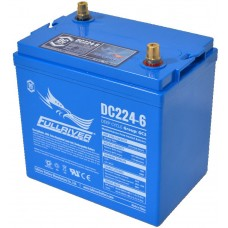 Fullriver DC224 - 6 Volt - 224Ah - 900CCA - Marine Deep Cycle AGM Battery - Maintenance Free Sealed AGM (DC224-6)