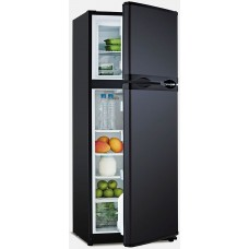 Arcticold DC285L-X Fridge/Freezer - 12 or 24 Volt - 225L Fridge with Separate 60L Freezer -  Reversible Black Doors (DC285L-X)