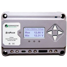 Morningstar EcoPulse Solar Charge Controller 10A for 12 & 24V Systems - PWM with LCD Screen - 4 Stage Charging - Low Battery Protection (SR-EC-10M)