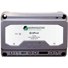 Morningstar EcoPulse Solar Charge Controller 10A for 12 & 24V Systems - PWM - 4 Stage Charging - Low Battery Protection (SR-EC-10)