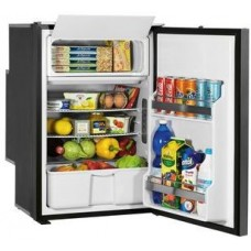 Isotherm Freeline 115 Elegance - 115L Marine and RV Fridge/Freezer - 12 or 24 Volt -  Right or Left Hand Opening Silver Door - Central Handle (EL115SDC)