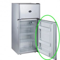 Replacement Refrigerator Door - Suits Evakool Platinum DC175 - 175 Litre - Changeable Left or Right Hand Satin Platinum Grey Door