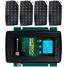 SUNBEAMsystem 400W Flexible Solar Package MPPT Solar Controller and DC to DC Charger - Charges Max 22.4A/hr @ 12V - Suits 12V Systems Only (FSP400DC)
