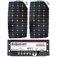 SUNBEAMsystem 200W Flexible Solar Package with MPPT Solar Controller - Charges Max 11A/hr @ 12V - Suits 12V and 24V Systems (FSP200MPPT)