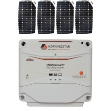SUNBEAMsystem 400W Flexible Solar Package with MPPT Solar Controller - Charges Max 22.4A/hr @ 12V - Suits 12V and 24V Systems (FSP400MPPT)