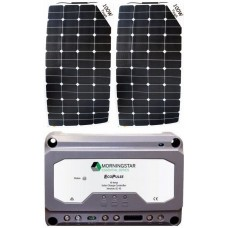 SUNBEAMsystem 200W Flexible Solar Package incl. PWM Solar Controller - Charges Max 11A/hr @ 12V - Suits 12V and 24V Systems (FSP200PWM)