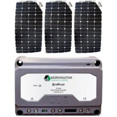 SUNBEAMsystem 300W Flexible Solar Package incl. PWM Solar Controller - Charges Max 16.5A/hr @ 12V - Suits 12V Systems Only (FSP300PWM)