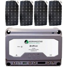 SUNBEAMsystem 400W Flexible Solar Package incl. PWM Solar Controller - Charges Max 22.4A/hr @ 12V - Suits 12V and 24V Systems (FSP400PWM)