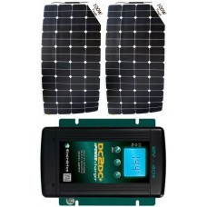 SUNBEAMsystem 200W Flexible Solar Package MPPT Solar Controller and DC to DC Charger - Charges Max 11A/hr @ 12V - Suits 12V Systems Only (FSP200DC)