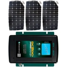 SUNBEAMsystem 300W Flexible Solar Package MPPT Solar Controller and DC to DC Charger - Charges Max 16.5A/hr @ 12V - Suits 12V Systems Only (FSP300DC)