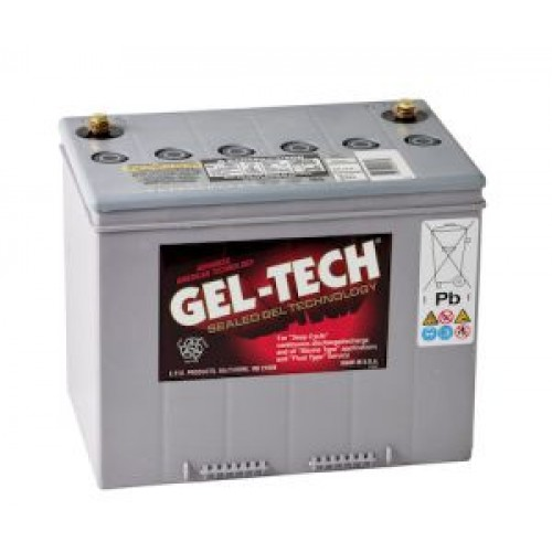 geltech 8g24ss battery 12 volt 74ah 410cca gel. Black Bedroom Furniture Sets. Home Design Ideas