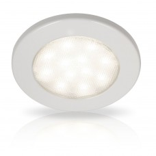 Hella EuroLED 115 Series LED Light - White Rim with White LED Light  (2JA980820002)