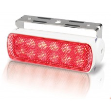 Hella Marine LED Sea Hawk Deck Flood Light - Red Light - White Housing - 12VDC - 50 Lumens (2LT980670351)