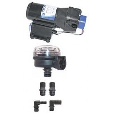 Jabsco V-Flo 5.0 Freshwater Pressure Pump  With Filter and Hose Connectors - Now Discontinued(J20-171)